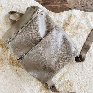 Matt & Nat Gray Vegan Leather Backpack